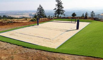 Backyard Beach Volleyball Court