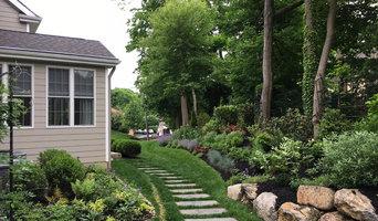 Backyard informal perennial border