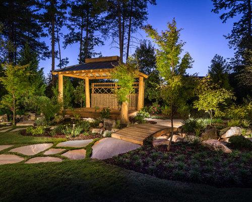 Jardin la fran aise asiatique photos et id es d co de - Deco jardin avec tige de bambou saint denis ...