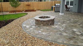 Backyard Landscape Rennovation - Paver Patio, Firepit, Raised Garden Beds, etc.