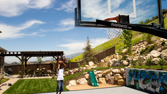 Backyard Multi Sport Outdoor Game Court