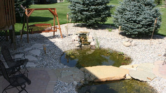 Backyard Patio and Pond Paradise