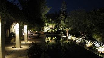 Backyard Pool Landscape Lighting