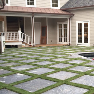 Photo of a contemporary backyard landscaping in Raleigh.