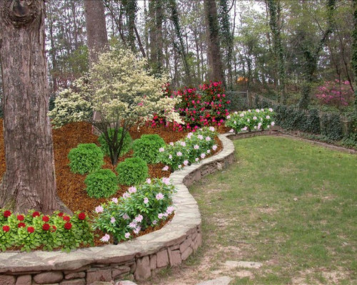 Decorative Stones For Flower Beds : Retaining wall fence home design ideas pictures remodel