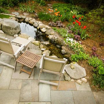 Backyard stream seating