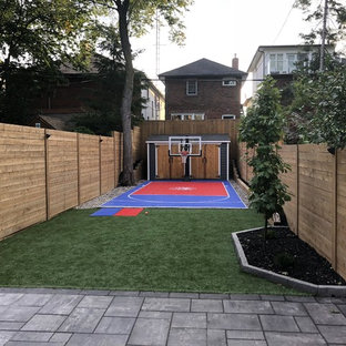Backyard Transformation with Fire Pit, Composite Decking and Outside Kitchen