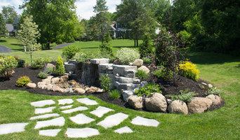 Backyard Waterfall and Landscaping Around Home