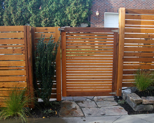 Horizontal Cedar Fence Home Design Ideas Pictures Remodel And Decor