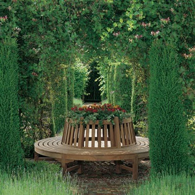 Barlow Tyrie - Barlow Tyrie Glenham Circular Tree Seat - Barlow Tyrie manufacturers an extensive range of outdoor furniture crafted from teak, all-weather wicker, stainless steel and aluminium. Their traditional and contemporary designs include deep seating chairs, dining chairs, tables, steamers, benches and swing seats.