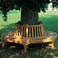 Contemporary Outdoor Benches by authenTEAK Outdoor Living