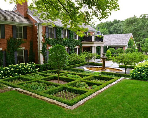Front Yard Formal Garden Ideas Designs Remodels Photos
