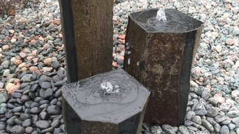Basalt Fountain with Polished Tops and Alternating Polished Sides
