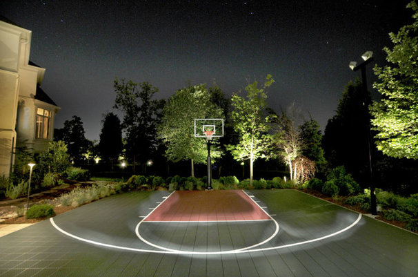 Contemporary landscape by land water design for How to build basketball court