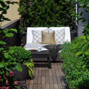 Inspiration for a transitional full sun rooftop landscaping in New York for summer.