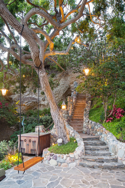 Mediterranean Landscape by Gregg Abel Design & Construction