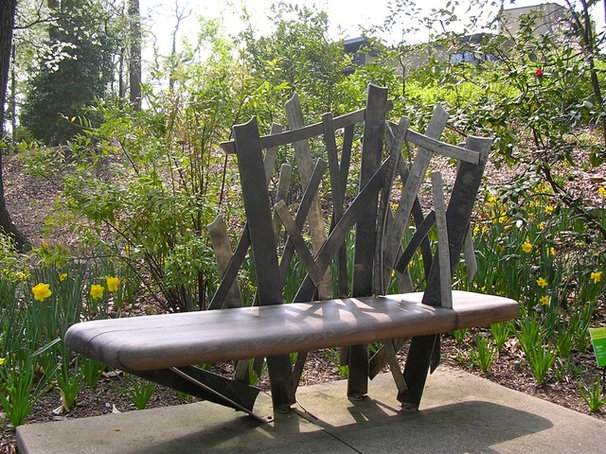 Modern Landscape Bench by Andrew T. Crawford Ironworks