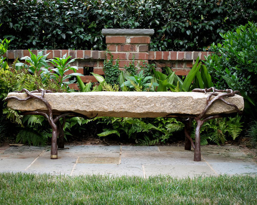 Stone Garden Bench Houzz