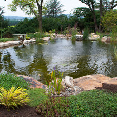 Traditional Landscape by Signature Pond & Patio