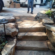 Traditional Landscape by Living Stone Construction, Inc.