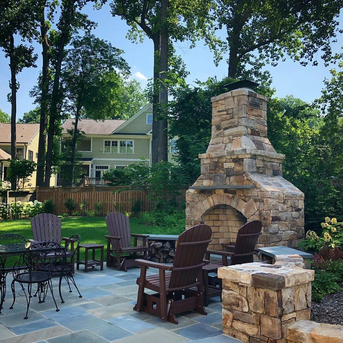 Bethesda, MD Chimney and outdoor living area