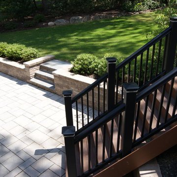 Big deck and hard scape