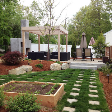 Big opportunities for outdoor entertaining in a small yard