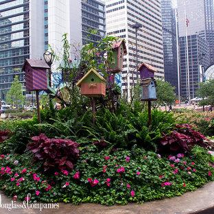 Exemple d'un jardin romantique.