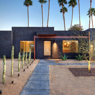 Design ideas for a southwestern drought-tolerant and desert front yard landscaping in Phoenix.