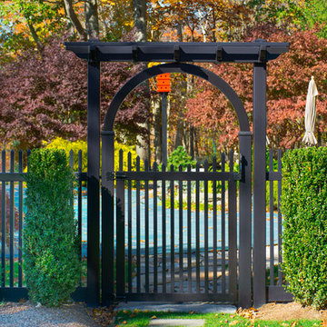 Black Vinyl PVC Picket Fence from Illusions Fence