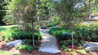 Bloomfield Twp, MI - Backyard Wooded Landscape & Paths