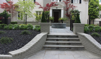 Blue Stone Patio and steps with Pond/Water Feature