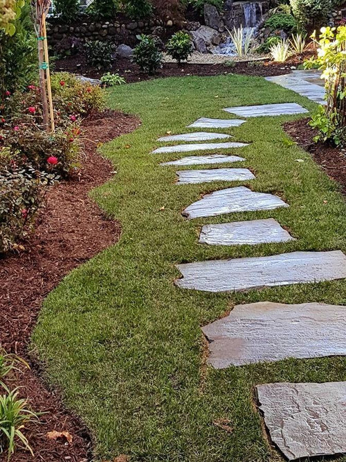 Blue stone stepping stone walkway long island - Stepping stones for walkways ...