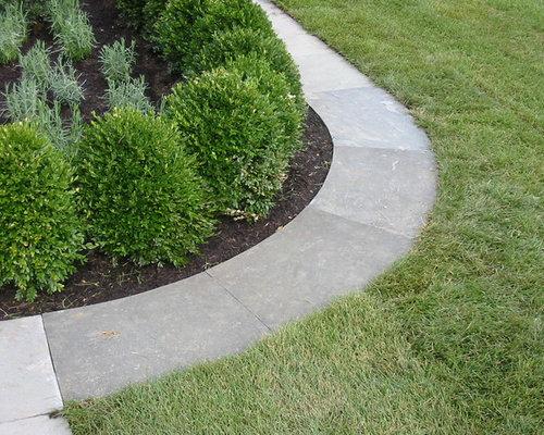 Flush curb outdoor design ideas remodels photos for Plusen landscape architects
