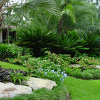 Tropical Tropical Landscape Dallas By Pool