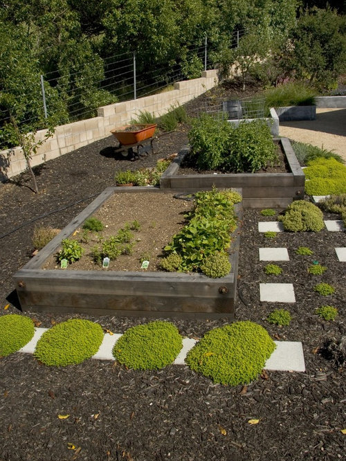 Raised Garden Bed On A Slope Home Design Ideas Renovations Photos