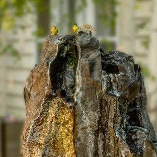 Idéer för rustika bakgårdar vattenfall
