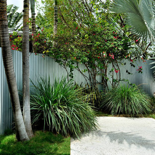Photo of a contemporary driveway in Miami.