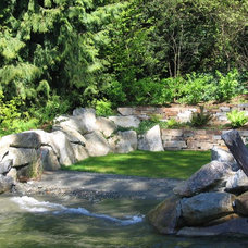 Beach Style Landscape by The Watershed Company