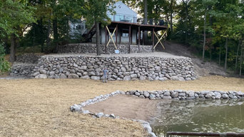 Boulder Wall, Seawall, Beach, Patio, Deck, & Dock