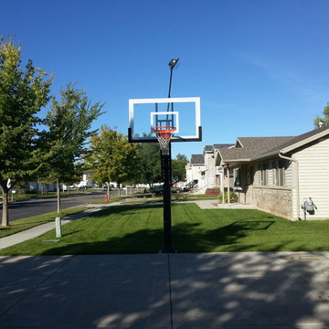 Brandon C's Pro Dunk Gold Basketball System on a 34x25 in Woods Cross, UT