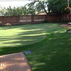 Dallas Backyard Putting Green Traditional Landscape