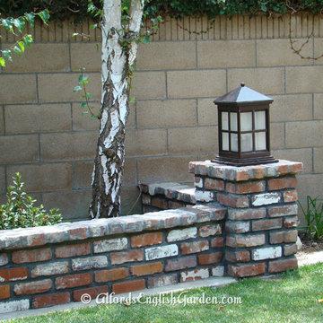 Brick Wall with Lamp Post