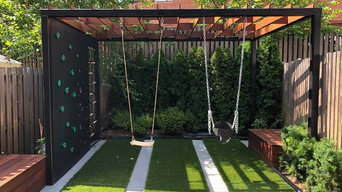 Brooklyn backyard with small playground