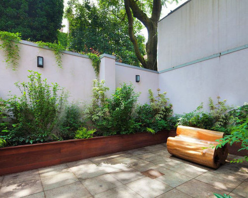 High Quality Design Ideas For A Contemporary Shade Backyard Stone Landscaping In New  York.