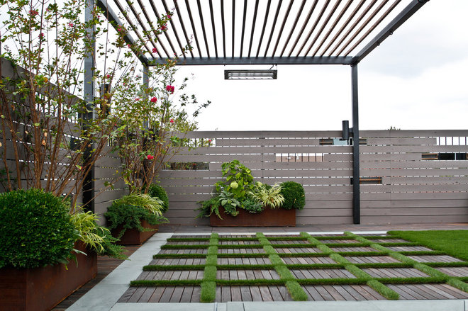 Contemporary Garden by Little Miracles Designs