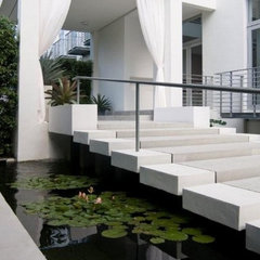 contemporary landscape by BROWN DAVIS INTERIORS, INC.