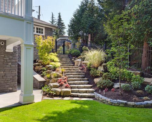 jardin victorien avec un foyer ext rieur photos et id es d co de jardins. Black Bedroom Furniture Sets. Home Design Ideas