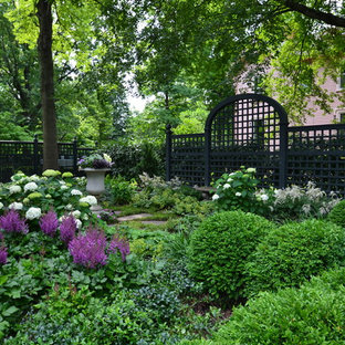 Design ideas for a traditional shade backyard landscaping in Cincinnati.