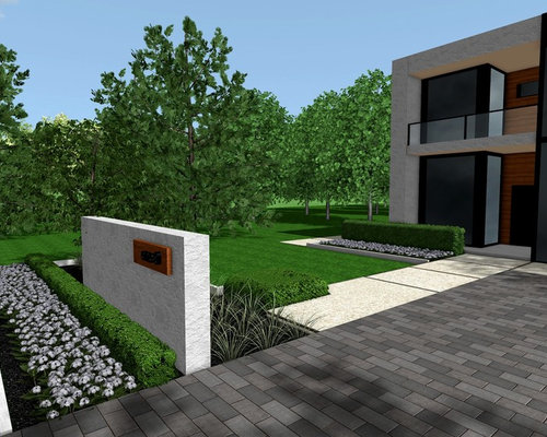 Best modern front yards design ideas remodel pictures - Modern front yard landscaping ...